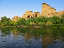 Aswan, Egypt: Temple of Isis at Philae island Stock Photos
