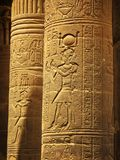 Aswan, Egypt: Temple of Isis at Philae island Royalty Free Stock Photos