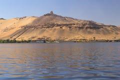 aswan Egypt wielmóż grobowowie obraz royalty free