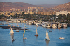 Aswan evening panorama Stock Photography