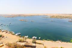 Aswan från överkanten - Egypten royaltyfri foto