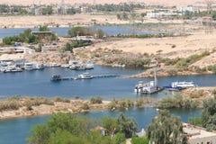 Aswan från överkanten - Egypten royaltyfria foton