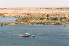 Aswan från överkanten - Egypten royaltyfria bilder