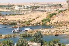 Aswan från överkanten - Egypten arkivbild