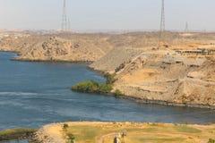 Aswan från överkanten - Egypten royaltyfri fotografi