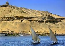 Aswan grobowowie wielmoże zdjęcie royalty free