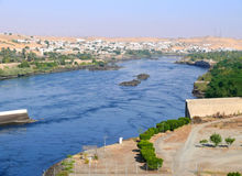 Aswan hydro-electric power station. Royalty Free Stock Image