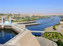 Aswan hydro-electric power station. Stock Photos