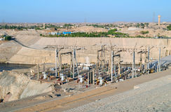 Aswan hydroelectric power station, Egypt Stock Photos