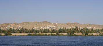 aswan nile flod arkivfoto