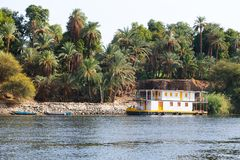 Aswan Nile River - Egypt. Plants Island at Aswan Egypt Royalty Free Stock Images