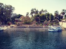 Aswan and nile river royalty free stock images