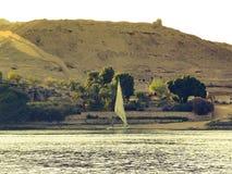 Aswan Nilen Fotografering för Bildbyråer