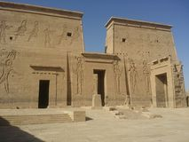 Aswan. Temple phiala pharos stock photography
