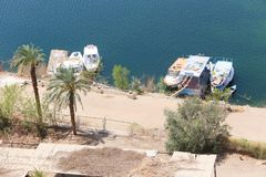 Aswan from top - Egypt royalty free stock image