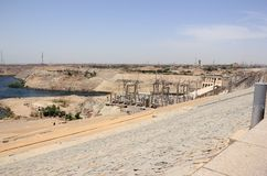 Aswandam De Hoge Dam Aswan, Egypte Royalty-vrije Stock Afbeeldingen