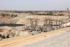 Aswandam De Hoge Dam Aswan, Egypte Stock Fotografie