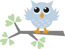 asweet little blue owl Royalty Free Stock Images