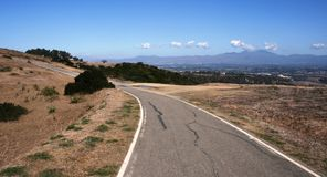 Aswut Trail. Panoramic view from a bike path in south Orange County, California Royalty Free Stock Image