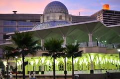 Asy-Syakirin mosque near KLCC. The Famous Asy-Syakirin Mosque near KLCC during sunset Stock Photography