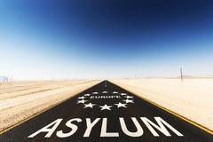Asyl Europa arkivbilder