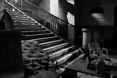 Asylum. The interior of an ex insane asylum in italy Stock Photos