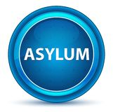 Asylum Eyeball Blue Round Button. Asylum Isolated on Eyeball Blue Round Button royalty free illustration