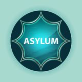 Asylum magical glassy sunburst blue button sky blue background. Asylum Isolated on magical glassy sunburst blue button sky blue background royalty free illustration