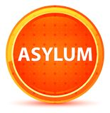 Asylum Natural Orange Round Button. Asylum Isolated on Natural Orange Round Button stock illustration