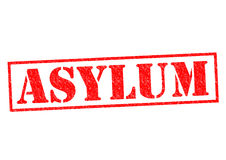 ASYLUM. Red Rubber Stamp over a white background stock illustration