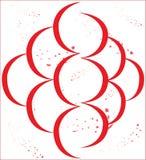 Asymetrisch, axial, rot, Splatter Stock Abbildung
