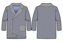 Asymetrische Wolljacke mit Reißverschluss an der Front Stockbilder