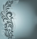 Asymmetric background with ornament Stock Images
