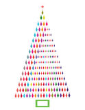 Asymmetric Christmas Tree. Funky Asymmetric Christmas Tree unique - tree within a tree optical illusion royalty free illustration