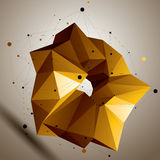 Asymmetric 3D abstract bright object, colorful geometric spatial. Form. Render and modeling Stock Images