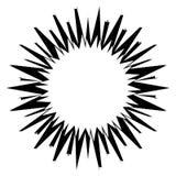 Asymmetric edgy circular shapes on white. Royalty free vector illustration Stock Photos