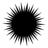 Asymmetric edgy circular shapes on white. Royalty free vector illustration Stock Photo
