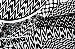 Asymmetric lines pattern. Stock Image