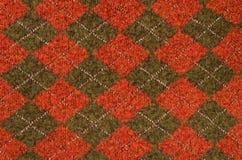 Asymmetric rhombus tartan pattern. Royalty Free Stock Images