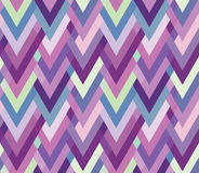 Asymmetric seamless herringbone inlay. Multicolore Royalty Free Stock Photos