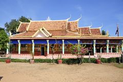 Asymmetric structure temple. In Cambodia Stock Photos
