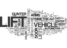 Asymmetric Vs Symmetric Vehicle Lifts Which Is Right For Me Word Cloud Royalty Free Stock Photography