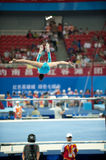 Asymmetrical bars-Chinese gymnastics competition in the Seventh National City Games Royalty Free Stock Photo