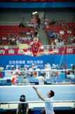 Asymmetrical bars-Chinese gymnastics competition in the Seventh National City Games Royalty Free Stock Photos