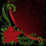 Asymmetrical black and red background Royalty Free Stock Images