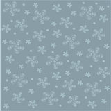 Asymmetrical floral pattern for the background. Blue abstract flowers on a blue background. Wrapping paper, texture, vector Royalty Free Stock Photos