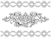 Asymmetrical ornament design element Royalty Free Stock Photos