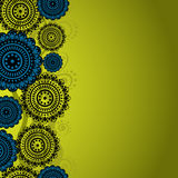 The asymmetrical pattern on a mustard background Royalty Free Stock Photos