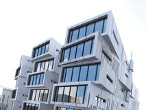 Asymmetrical rectangular building exterior Stock Photography