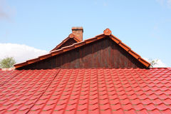Asymmetrical roof Royalty Free Stock Images